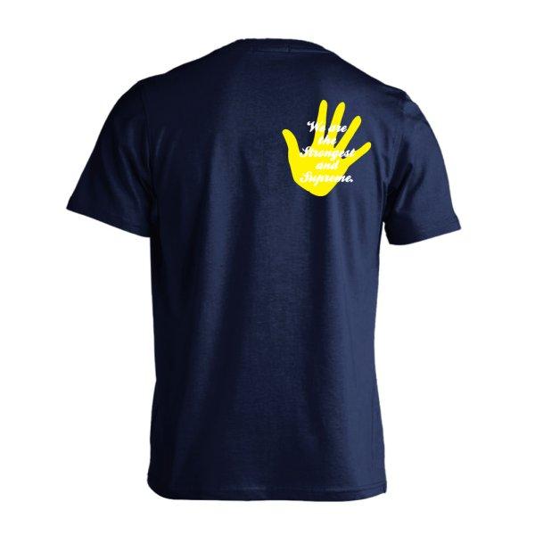 画像1: オレたちは最強で最高 手のひらデザイン 半袖プレミアムドライ ハンドボールTシャツ (1)
